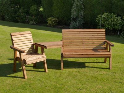 Garden bench, chair & tray set - DR10