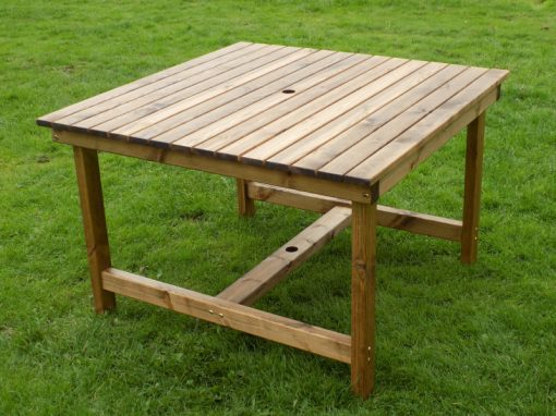 Square garden table