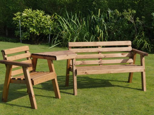 Traditional chair, bench and tray set - TR30