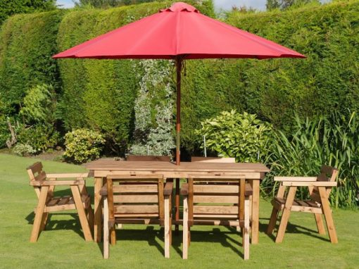 Traditional six seater garden table set -TR21