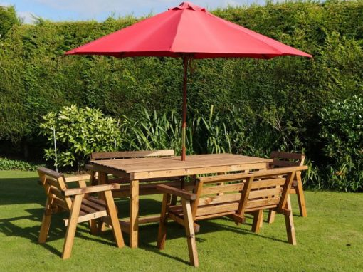Traditional six seater garden table set -TR22