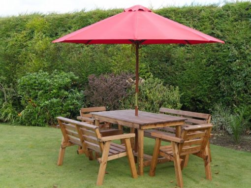 Traditional six seater garden table set -TR23