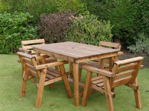 Traditional four seater garden table set -TR24
