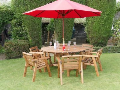 Traditional six seater garden table set -TR25