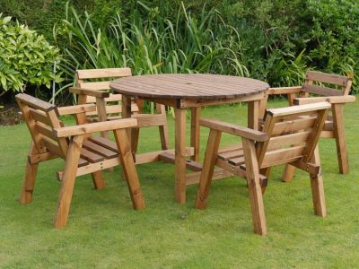 Traditional four seater garden table set -TR26