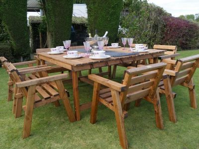 Traditional eight seater garden table set -TR35