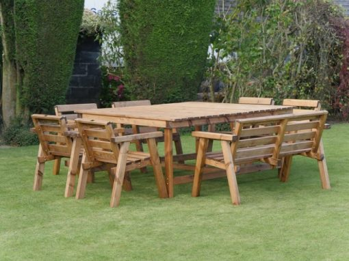 Traditional eight seater garden table set -TR36