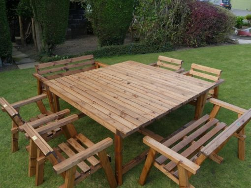 Traditional eight seater garden table set -TR37