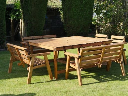 Traditional eight seater garden table set -TR38