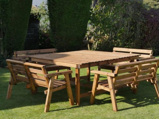 Traditional eight seater garden table set -TR39