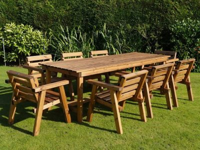 Traditional eight seater garden table set -TR40