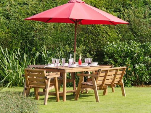 Traditional eight seater garden table set -TR41