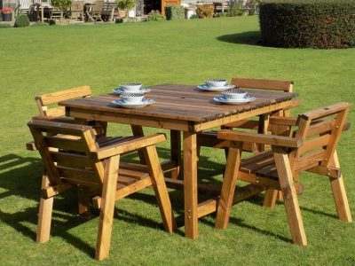 Traditional four seater garden table set -TR42